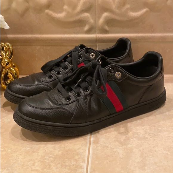 Gucci Shoes - Black Gucci Sneakers